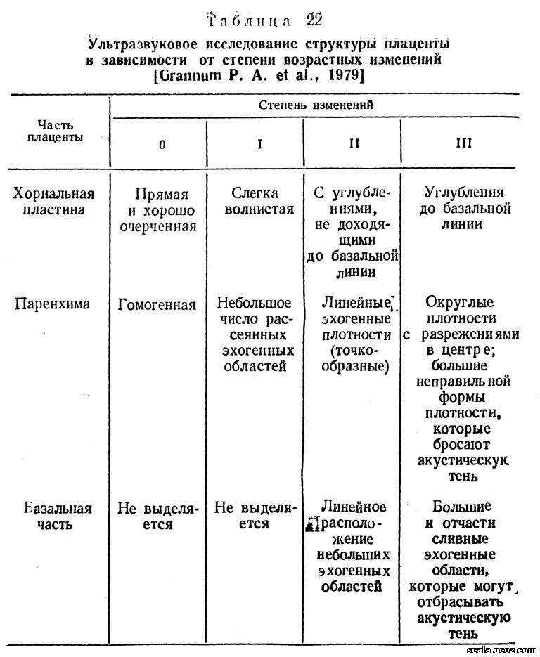 Плацентография Ультразвуковая